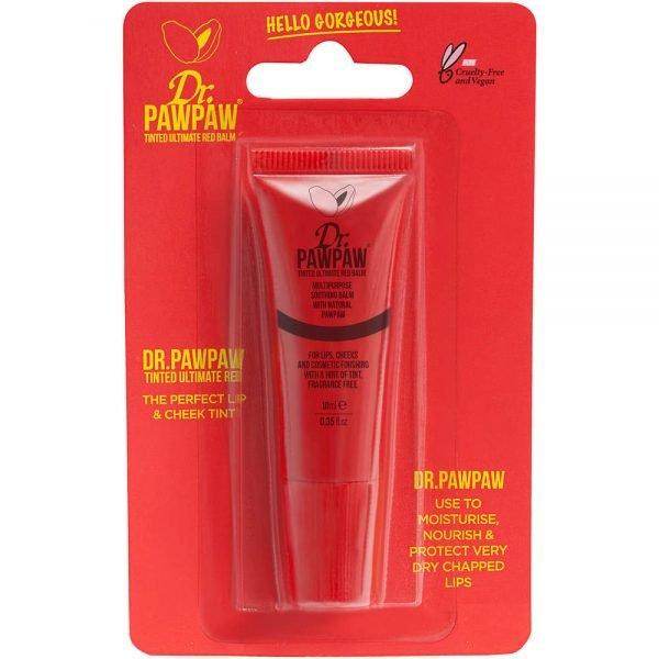 Dr.PAWPAW tonirani ultimativni crveni balzam koristi istu sjajnu formulu originalnog balzama, ali sada sadrži trendy crvenu nijansu, tako da vaš balzam dodaje boju vašim usnama, obrazima i životu!